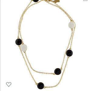 Kate Spade Black and White Necklace